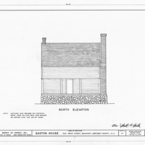 North elevation, Jacob Henry House, Beaufort, North Carolina
