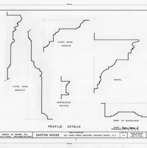 Trim details, Jacob Henry House, Beaufort, North Carolina