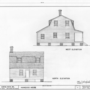 West and north elevations, Hancock House, Beaufort, North Carolina