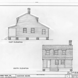 East and south elevations, Hancock House, Beaufort, North Carolina