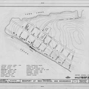 1800 street map of Beaufort, North Carolina