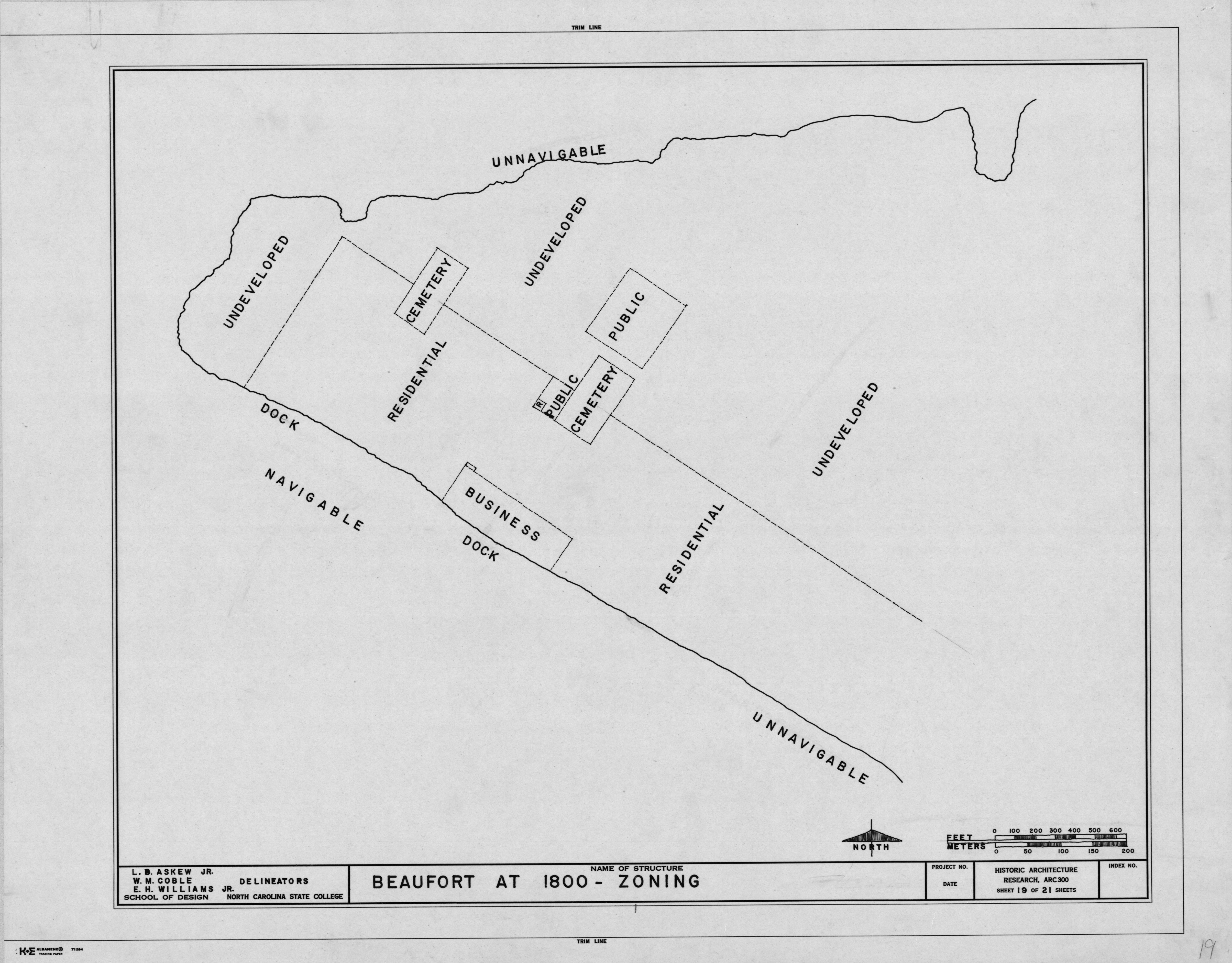 1800 zoning of Beaufort, historical background of Beaufort, Beaufort, North Carolina