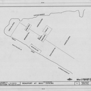 1800 zoning of Beaufort, North Carolina