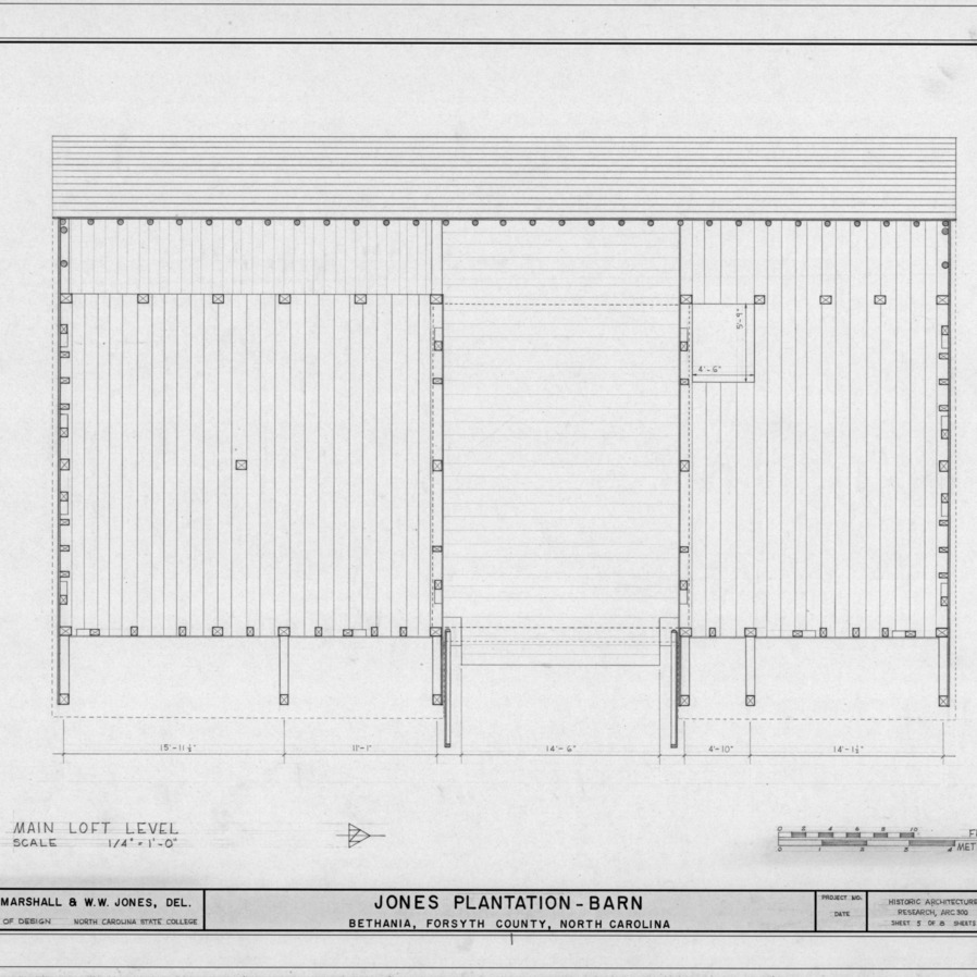 Loft plan, Salem Tavern Barn, Winston-Salem, North Carolina