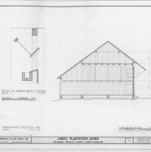 Cross section and detail, Salem Tavern Barn, Winston-Salem, North Carolina