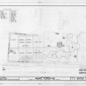 Site plan, Midway Plantation, Wake County, North Carolina
