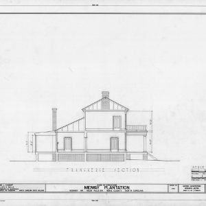 Cross section, Midway Plantation, Wake County, North Carolina