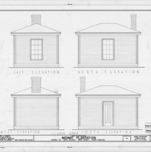 School house elevations, Midway Plantation, Wake County, North Carolina