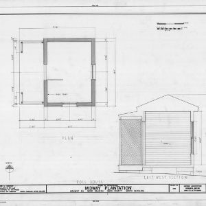 Dollhouse floor plan and cross section, Midway Plantation, Wake County, North Carolina