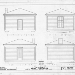 Office elevations, Midway Plantation, Wake County, North Carolina