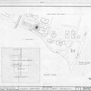 Site plan, Fourth Dormitory, Raleigh, North Carolina