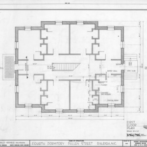 First floor plan, Fourth Dormitory, Raleigh, North Carolina