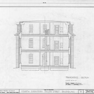 Cross section, Fourth Dormitory, Raleigh, North Carolina