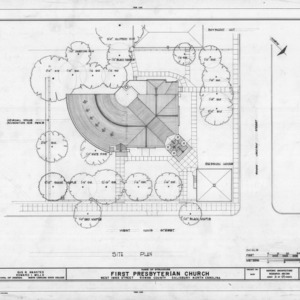 Site plan, First Presbyterian Church, Salisbury, North Carolina