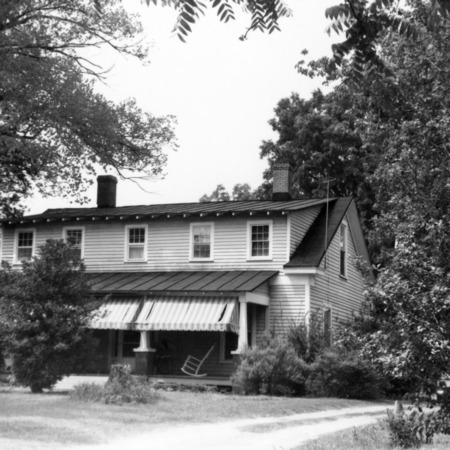 Front view, Rountree Farmhouse, Greenville, North Carolina