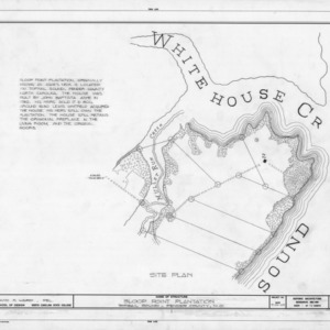 Site plan, Sloop Point, Pender County, North Carolina