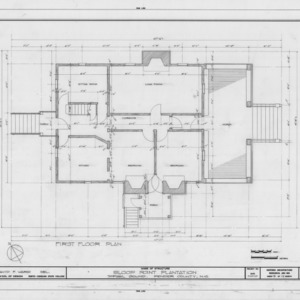 First floor plan, Sloop Point, Pender County, North Carolina