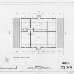 Second floor plan, Sloop Point, Pender County, North Carolina