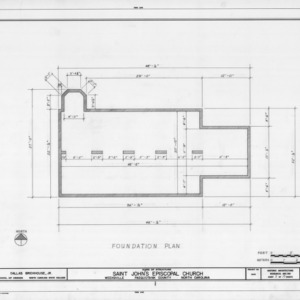 Foundation plan, St. John's Episcopal Church, Pasquotank County, North Carolina