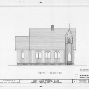 North elevation, St. John's Episcopal Church, Pasquotank County, North Carolina