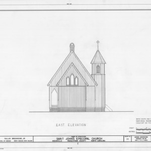 East elevation, St. John's Episcopal Church, Pasquotank County, North Carolina