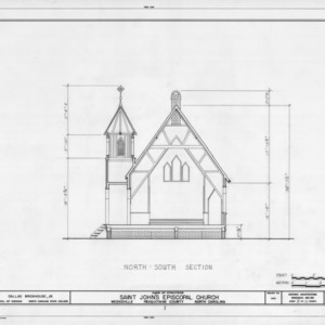 Cross section, St. John's Episcopal Church, Pasquotank County, North Carolina