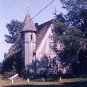 View with turret, St. John's Episcopal Church, Pasquotank County, North Carolina