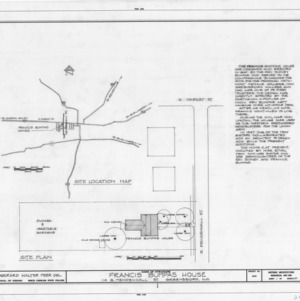 Site plan and notes, Bumpass-Troy House, Greensboro, North Carolina