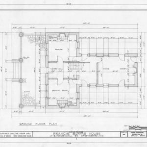 First floor plan, Bumpass-Troy House, Greensboro, North Carolina
