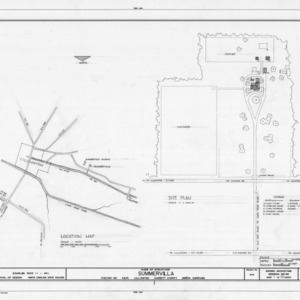 Location map and site plan, Summervilla, Harnett County, North Carolina