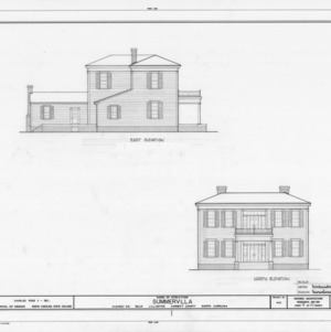 East and north elevations, Summervilla, Harnett County, North Carolina