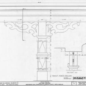 Column details, Julian House, Franklinville, North Carolina