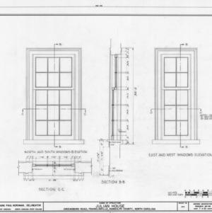 Window details, Julian House, Franklinville, North Carolina