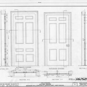 Door details, Julian House, Franklinville, North Carolina