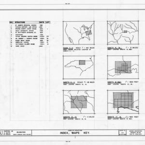 Index maps, historic city of Hillsborough, North Carolina