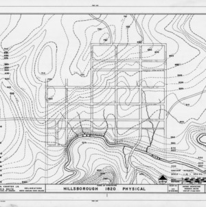 1820 Hillsborough map, historic city of Hillsborough, Hillsborough, North Carolina