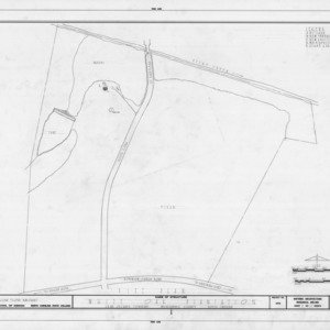 Site plan, White Oak, Mecklenburg County, North Carolina