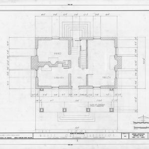 First floor plan, White Oak, Mecklenburg County, North Carolina