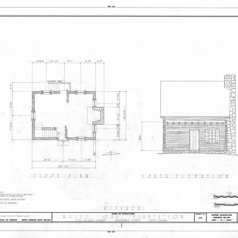 Kitchen Floor Plans And Elevations: NCSU Libraries' Rare And Unique Digital Collections Search