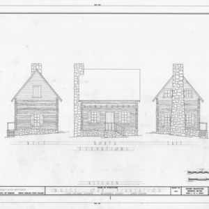 Kitchen elevations, White Oak, Mecklenburg County, North Carolina