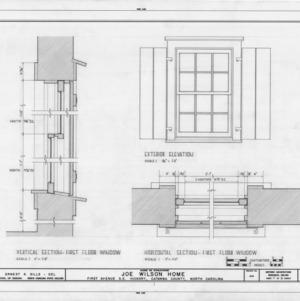 Window details, Joe Wilson House, Hickory, North Carolina