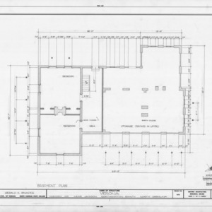 Basement plan, Verona, Northampton County, North Carolina