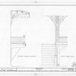Balcony and porch details, Verona, Northampton County, North Carolina