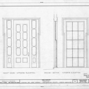 Door and window details, Verona, Northampton County, North Carolina