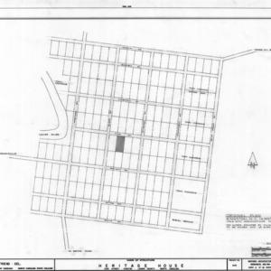 Historic plan of Kinston, Peebles House, Kinston, North Carolina