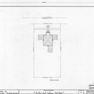 Site plan, Peebles House, Kinston, North Carolina