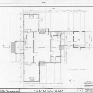 First floor plan, Peebles House, Kinston, North Carolina