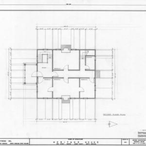 Second floor plan, Peebles House, Kinston, North Carolina