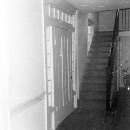 Interior view with stairs, Peebles House, Kinston, North Carolina