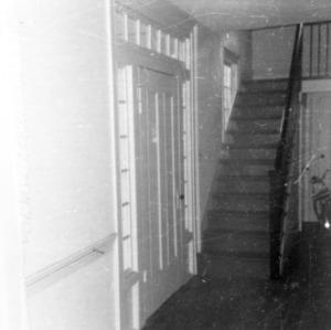 Interior view with stairs, Peebles House, Kinston, North Carolina